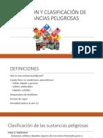 Definición y Clasificación de Las Sustancias Peligrosas