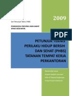 Cover Juknis PHBS Tempat Kerja Perkantoran Di Jawa Barat