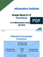 Math Institutes 2010 Hs Functions
