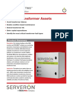 SERVERON TM3 ® ™ On-line DGA Monitor