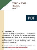 1. Climaterio y Post Menopausia