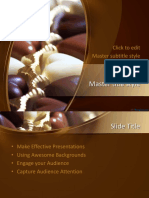 Powerpoint template- Chocolate