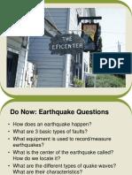 earth quake slide