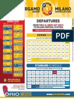 Bergamo Airport Bus schedule