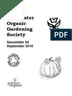 September 2010 Chichester Organic Gardening Society Newsletter
