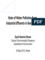 State of Water Pollution From Industrial Effluents in Bangladesh