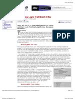 Exporting Logic Multi Track Files