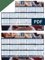 Le calendrier 2019-2020 de la Pro D2