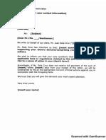 Sample Form 5 - Demand Letter