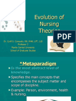 Evolution of Nursing Theories (First Semester 2019)