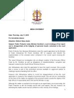 Public Protector media statement