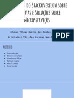 Um Estudo do Stackoverflow sobre Perguntas e Soluções sobre Microsserviços (Apresentação)