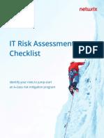 IT risk assessment checklist