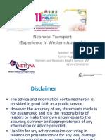15. Neonatal Transport - Diane Coad