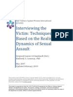 Interviewing the Victim- Techniques Based on the Realistic Dynamics of Sexual Assault