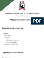 Chatbot para auxílio no ensino de engenharia de software (Apresentação)
