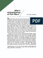 Mayer - Weber's Interpretation of Marx.pdf