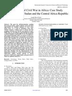 The Motive of Civil War in Africa