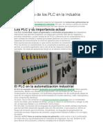 Aplicaciones de Los PLC en La Industria Moderna