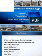 Water and Wastewater Sector in Egypt