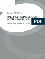 SOPHIA Split air conditioner, troubleshooting