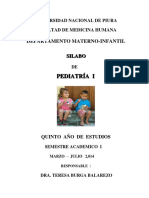 Silabo Pediatria I 2014