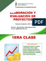 1era Clase de Elaboración y Evaluación de Proyectos (2)