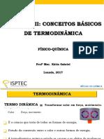1ª LEI - CONCEITOS BAìSICOS DE TERMODINAMICA  (1)