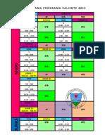 Cronograma Programa Valiente 2019