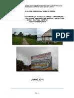 """Instalación de Los Servicios de Agua Potable y Saneamiento Para El Centro Poblado de San Pedro de Mangua - Distrito de Mazan - Maynas - Loreto"""" Codigo Snip Nº 292759"""
