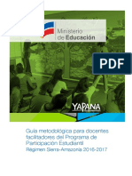 Guia Metodologica Para Docentes Facilitadores Del PPE