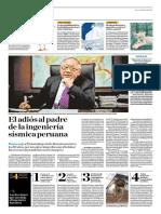El Adiós Al Padre de La Ingeniería Sísmica Peruana