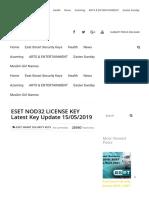 Eset Nod32 License Key Latest Key Update 15-05-2019
