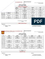 Jhs Class Schedule 20192020 Revised