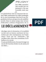 Camille Peugny - Le Déclassement (2009, Grasset & Fasquelle)