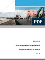PLAXIS Site Response Analysis Liquefaction Evaluation