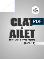 10 Years CLAT & AILET (2008-17) - Disha Experts