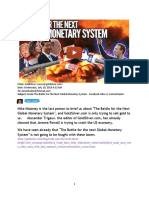 Battle for the next Global Monetary System