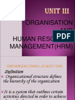 Organisation and Human Resource Management(HRM)