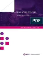 Wsa Full Stack Web Developer Course Syllabus