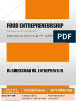 Food Entrepreneurship