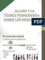 Baudrillard y La Teoría Posmoderna Sobre Los Media