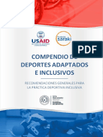 Compendio de deportes inclusivos - Asunción, Paraguay