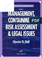 Groundwater Contamination Management Contain Risk Assessment and Legal Issues Volume II