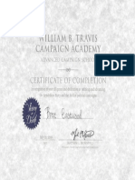 Murphy Nasica Campaign Academy Certificate