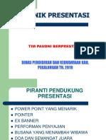 Teknik Presentasi Program Nonformal