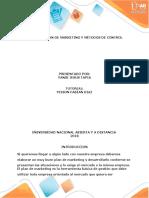 Paso - 5 Plan de Marketing y Métodos de Control