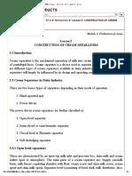 Construction of Cream Separator