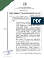 Resolución de Seprelad sobre Carta Verde