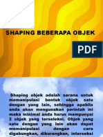 Shaping Objek